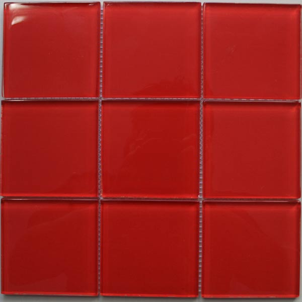mosaik fliesen glas rot 100x100x8mm ho24184m. Black Bedroom Furniture Sets. Home Design Ideas