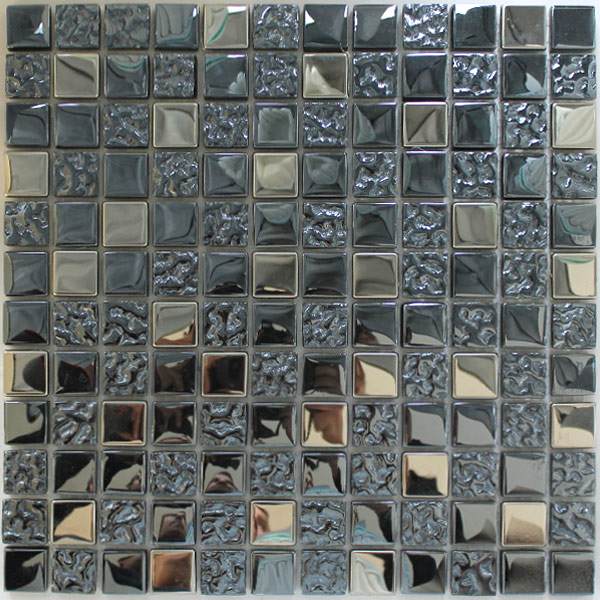 glas metall mosaik fliesen silber schwarz mix lz64001m. Black Bedroom Furniture Sets. Home Design Ideas