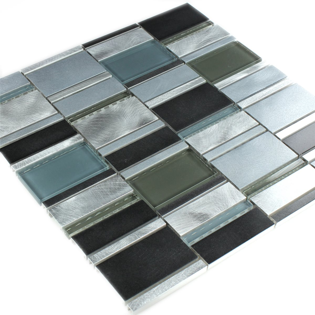 aluminium glas mosaik fliese blau mix tm33257m. Black Bedroom Furniture Sets. Home Design Ideas