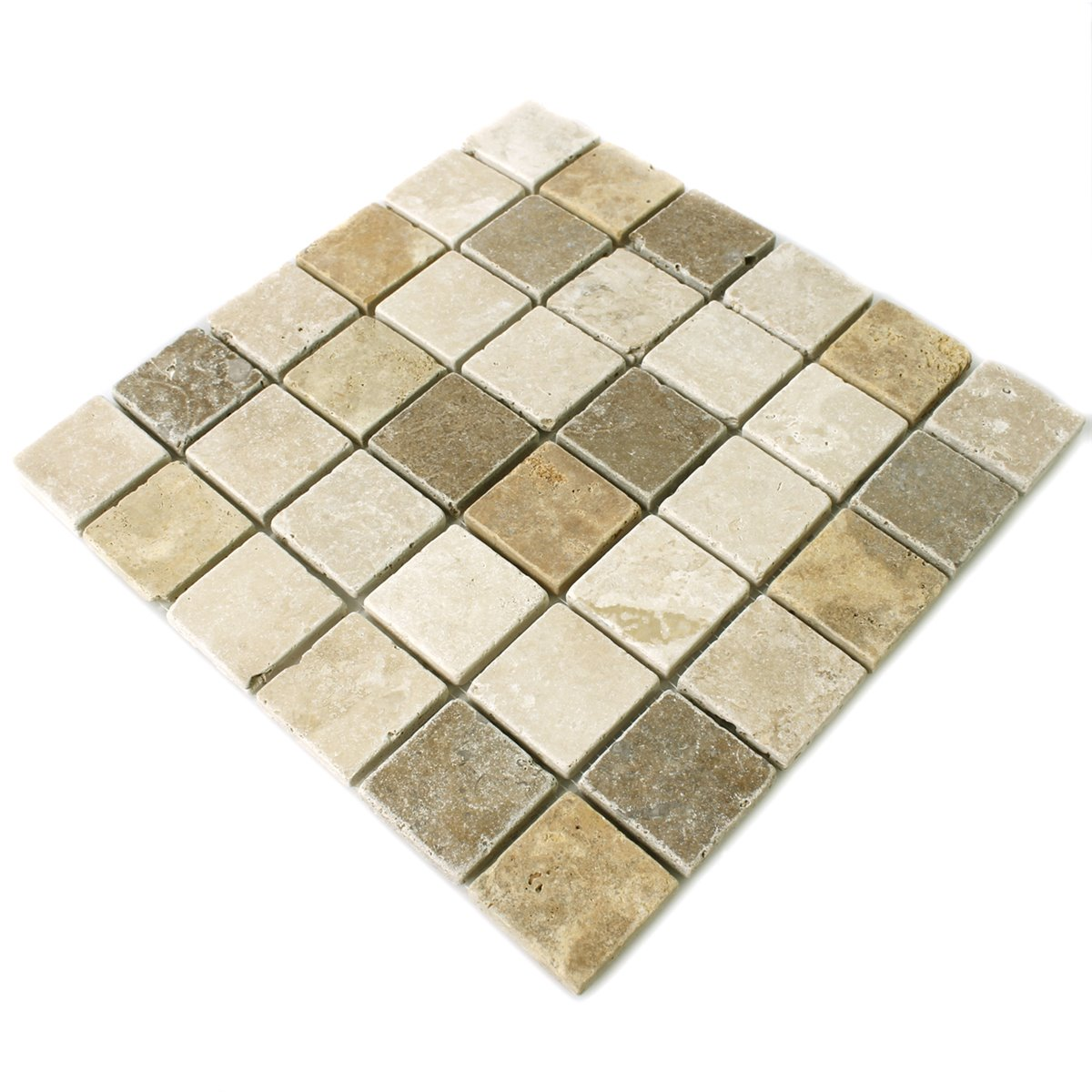 Travertin fliesen braun beige rot 48x48x10mm tt010kns m for Fliesen beige