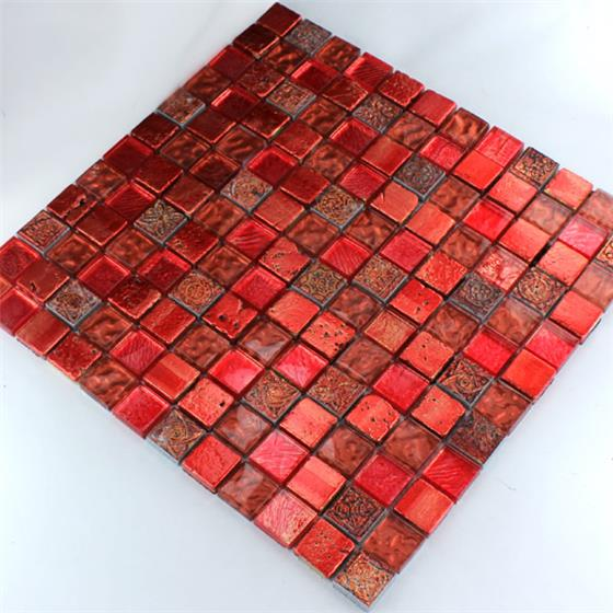 glas kalkstein marmor mosaik fliesen lava rot ebay. Black Bedroom Furniture Sets. Home Design Ideas