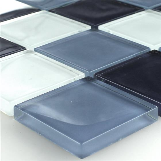 mosaikfliesen glas superweiss blau mix ebay. Black Bedroom Furniture Sets. Home Design Ideas