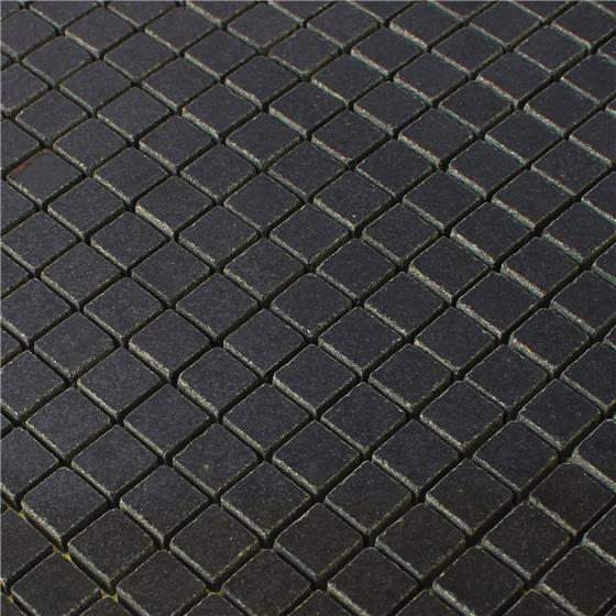granit mosaik fliesen schwarz 15x15x8mm ebay. Black Bedroom Furniture Sets. Home Design Ideas