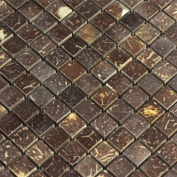 Mosaikfliesen Kokosnuss Toffee 15x15x8mm