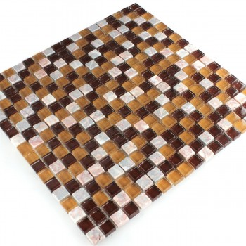Mosaikfliesen Glas Marmor Color Mix 15x15x8mm
