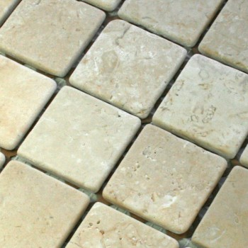 Mosaikfliesen Marmor 48x48x8mm Cream