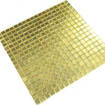 Glasmosaik Fliesen Gold 15x15x4mm