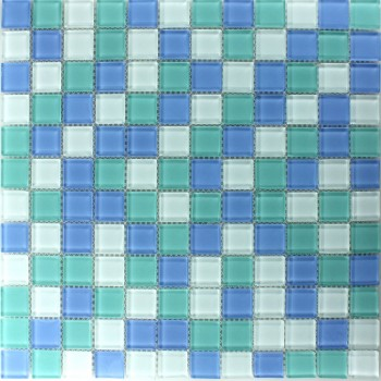 Glasmosaik Fliesen Aqua Mix 23x23x4mm