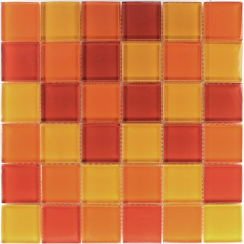 Mosaikfliesen Glasmosaik Gelb Orange Rot Mix