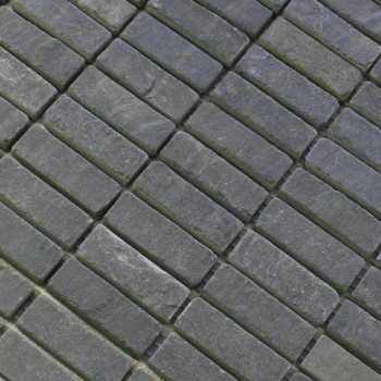 Mosaikfliesen Schiefer 15x48x8mm Anthrazit