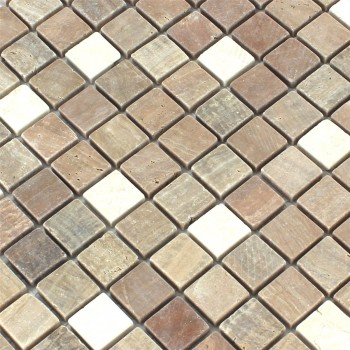 Mosaikfliesen Marmor Cotto Mix 23x23x7mm