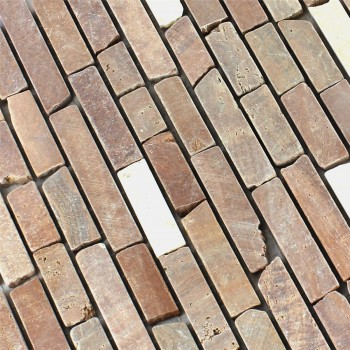 Mosaikfliesen Marmor Cotto Mix
