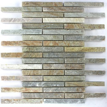 Mosaikfliesen Naturstein Quarzit Beige Mix Sticks