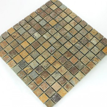 Mosaikfliesen Quarzit Naturstein Multi Color Bunt Mix
