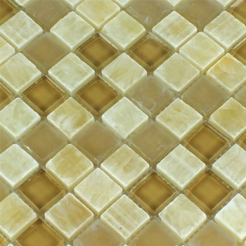Mosaikfliesen Glas Onyx Honey