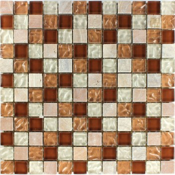 Mosaikfliesen Marmor Glas Fliese Cotto Mix Geriffelt