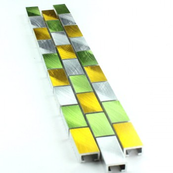 Mosaikfliesen Aluminium Bordüre 15x32x8mm Tropical
