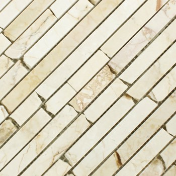Marmor Brick Mosaik Fliesen Golden Cream Poliert