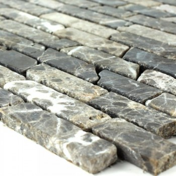 Mosaikfliesen Marmor Castano Sticks 6mm
