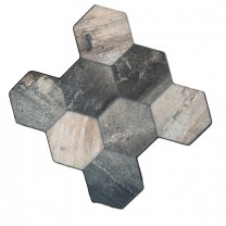 Bodenfliesen Hexagon Old Wood Optik 45x45cm