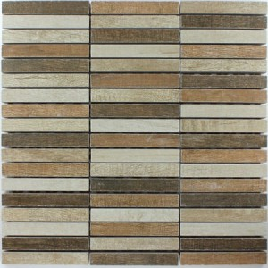 Mosaikfliesen Holz Optik Tilos Colour Mix