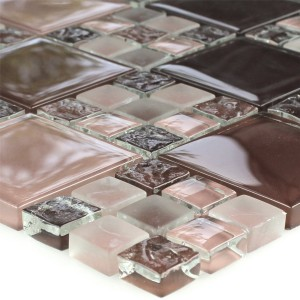 Mosaikfliesen Glas Bordeaux Mix