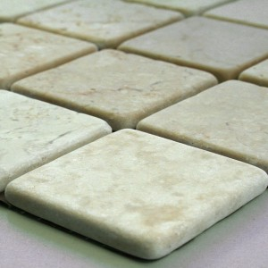 Mosaikfliesen Marmor Bondy Cream 48x48x8mm