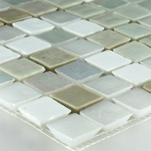 Glasmosaik Fliesen Creme 16x16x6mm