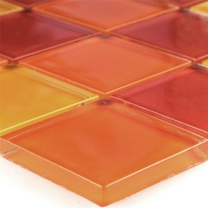 Mosaikfliesen Glas Gelb Orange Rot Mix