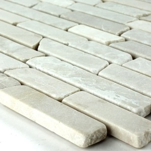 Mosaikfliesen Marmor Beige Sticks 6mm