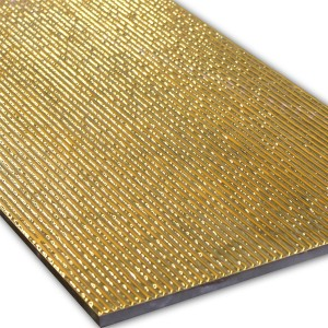 Wand Dekor Fliese Gold 30x60cm