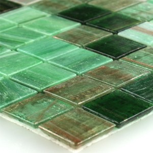 MUSTER Mosaikfliesen Trend-Vi Recycling Glas Reflection