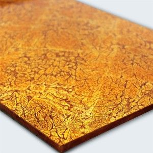 Glas Effekt Fliese Metall Gold 60x30cm