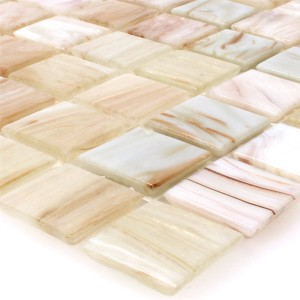 Glasmosaik Fliesen Goldensilk Hellbeige