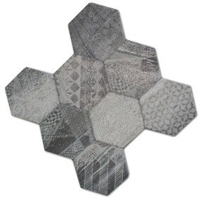 Bodenfliesen Hexagon Hologram Optik 45x45cm