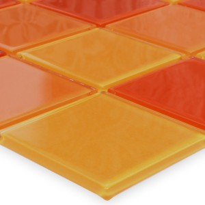 Glasmosaik fliesen gelb matt 48x48x8mm - Orange fliesen ...