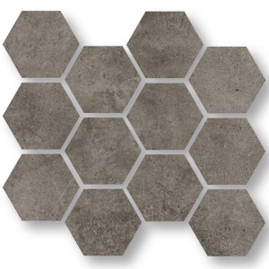 Mosaikfliesen Oregon Grau Braun Hexagon