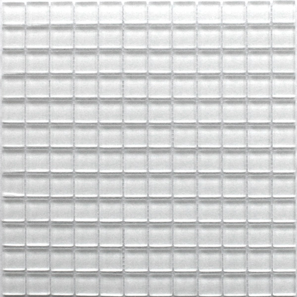 Glasmosaik  Glasmosaik Uni 23x23x8mm Super White Weiss - HS20047m