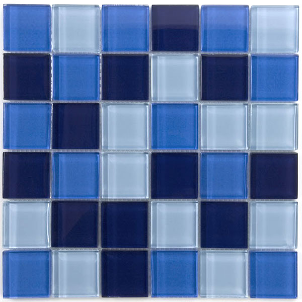 glas mosaik fliesen 48x48x8mm blau mix bl4848 m. Black Bedroom Furniture Sets. Home Design Ideas