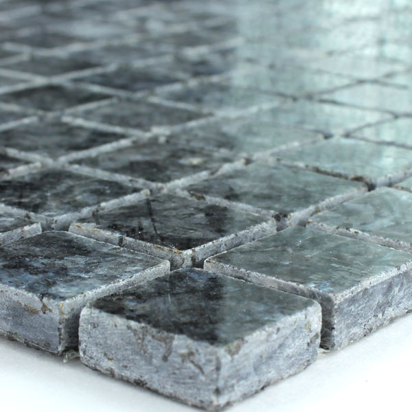 granit mosaik fliesen 23x23x8mm blue pearl tk15006m. Black Bedroom Furniture Sets. Home Design Ideas