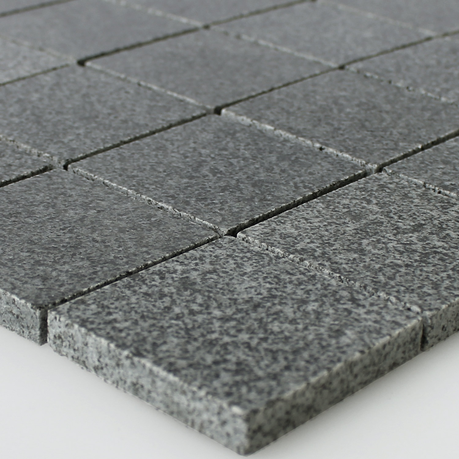 granit mosaik fliesen anthrazit 48x48x8mm mt51288