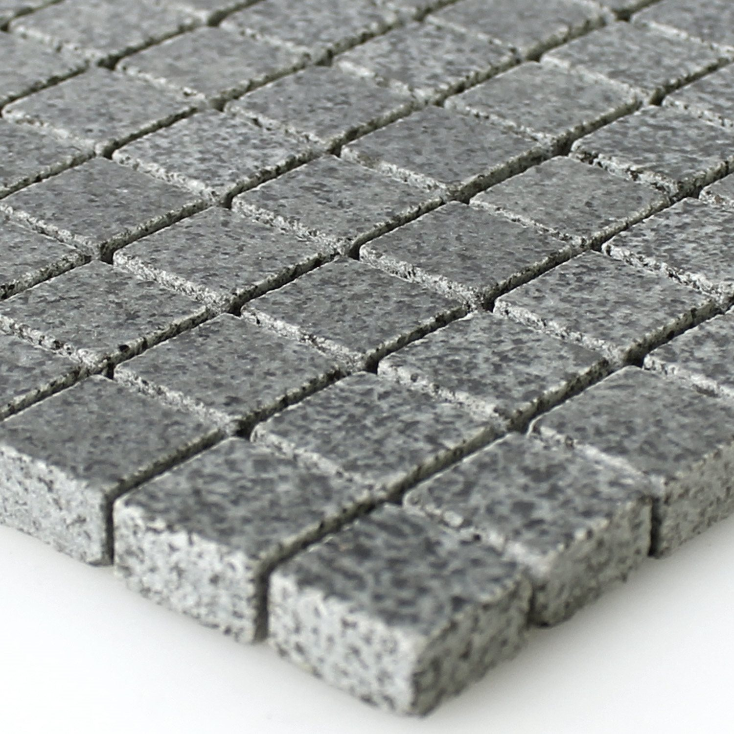 granit mosaik fliesen anthrazit 15x15x8mm mt51290