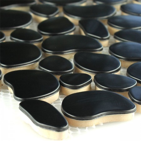 Design Pebble Metall Mosaik Black - 1 Matte